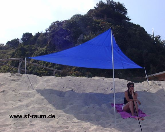 Shade sail equilaterally triangle 400 cm edge length