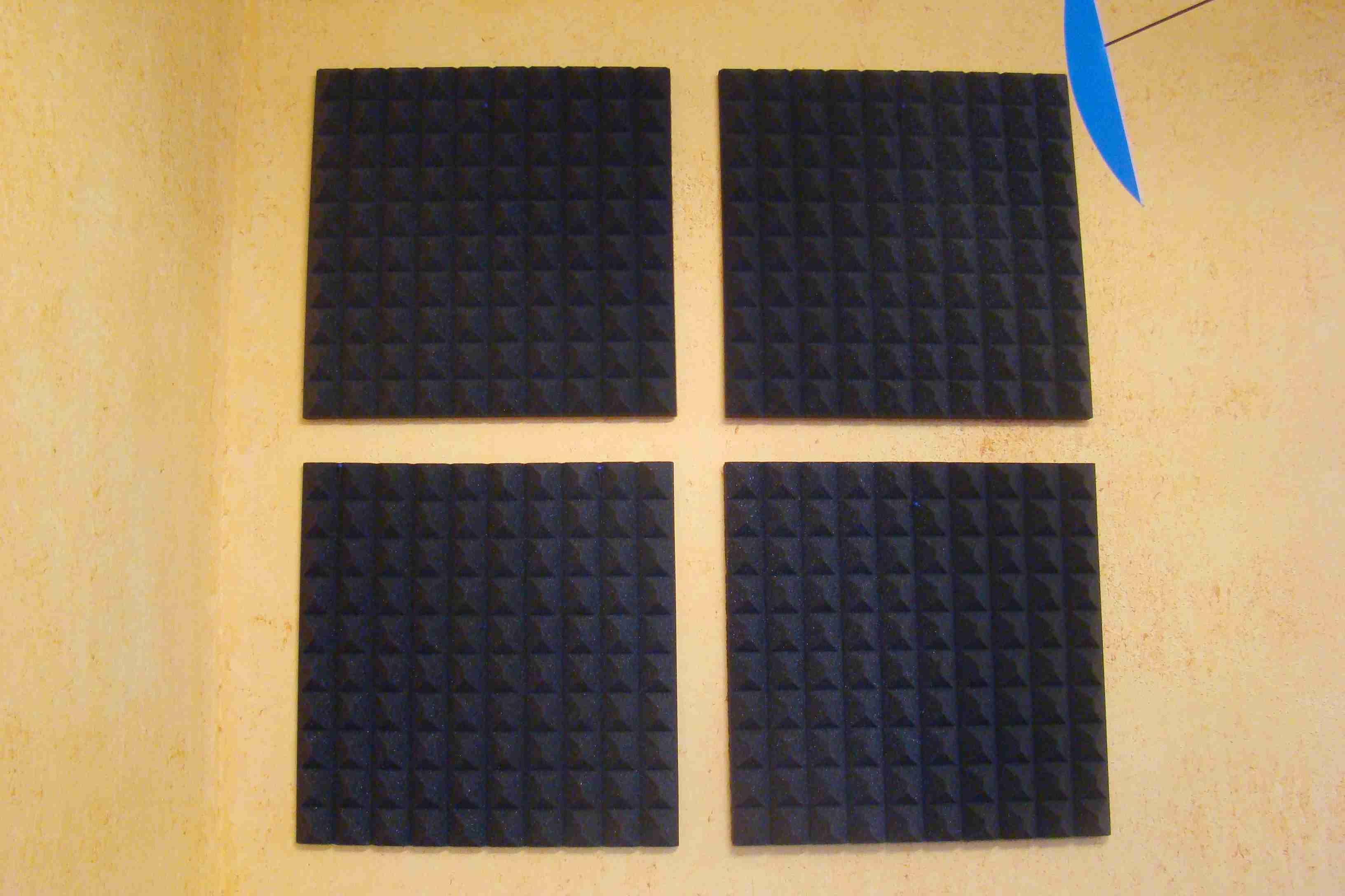 Akustikschaumplatten, Noppenschaum, 4 cm, selbstklebend, Set 13