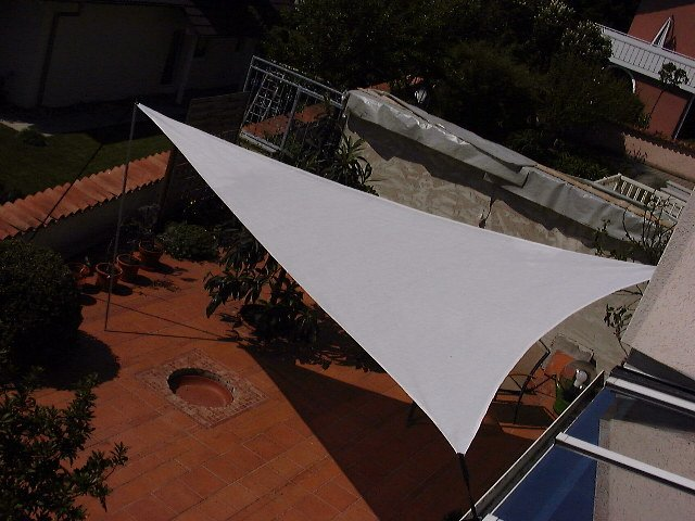 Shadesail equilateraly triangle 500 cm edge length Cordura white
