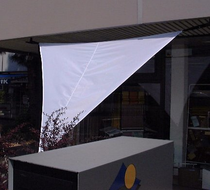 Shade sail equilaterally triangle 295 cm edge length