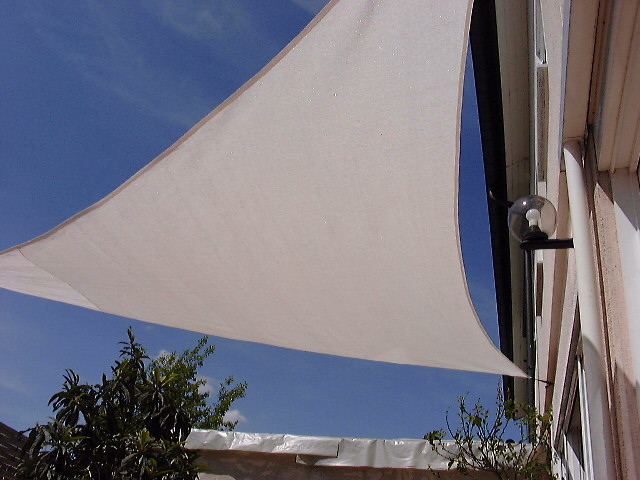 Shadesail equilateraly triangle 500 cm edge length